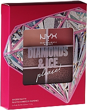 Fragrances, Perfumes, Cosmetics Eyeshadow Palette - NYX Professional Makeup Diamond & Ice Shadow Palette