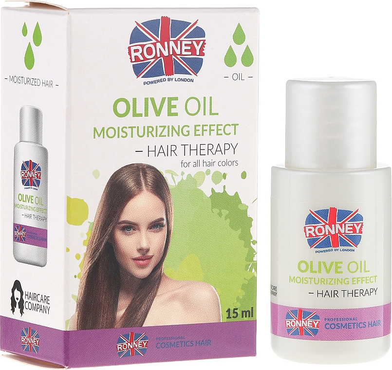 Oil for Dry Shine-Free Hair - Ronney Olive Oil Moisturizing Hair Therapy