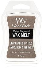 Fragrances, Perfumes, Cosmetics Scented Wax - WoodWick Wax Melt Black Amber & Citrus