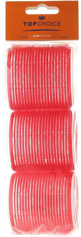 "Velcro Hair Curlers ""Velcro"" diameter 60 mm, 3 pcs, 0607, red - Top Choice"