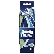 Fragrances, Perfumes, Cosmetics Disposable Shaving Razor Set, 10 pcs - Gillette Blue II Chromium