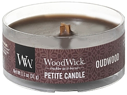 Fragrances, Perfumes, Cosmetics Scented Candle in Glass - Woodwick Petite Candle Oudwood