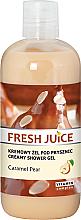 """Fragrances, Perfumes, Cosmetics Shower Cream-Gel """"Caramel Pear"""" - Fresh Juice Caramel Pear Creamy Shower Gel"""
