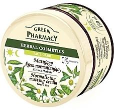 "Fragrances, Perfumes, Cosmetics Matte Face Cream ""Green Tea"" - Green Pharmacy Normalizing Matting Cream"