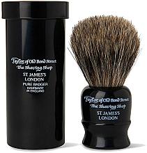 Fragrances, Perfumes, Cosmetics Shaving Brush, 8,5 cm, with travel case, black - Taylor of Old Bond Street Shaving Brush Pure Badger