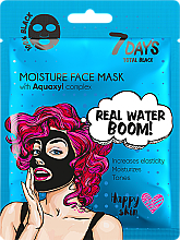 Fragrances, Perfumes, Cosmetics Face Mask - 7 Days Total Black Moisture Real Water Boom