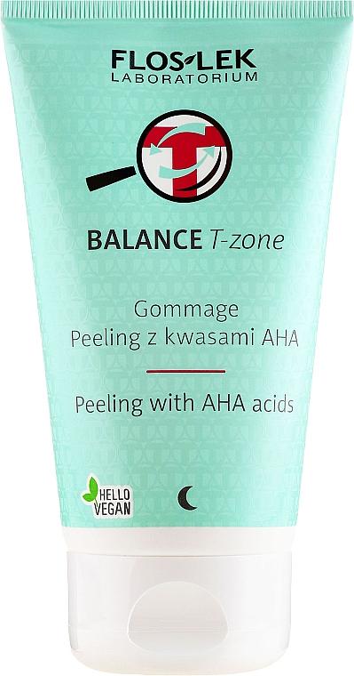 Gommage Peeling with AHA Acids - Floslek Balance T-Zone Gommage Peeling With AHA Acids
