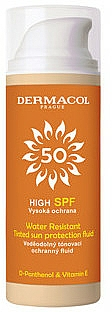 Waterproof Sunscreen Tinted Fluid - Dermacol Sun Tinted Water Resistant Fluid SPF50