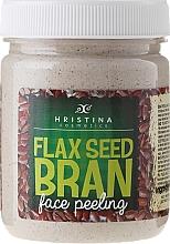 Fragrances, Perfumes, Cosmetics Flax Seed Bran Face Peeling - Hristina Cosmetics Flax Seed Bran Face Peeling