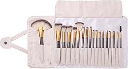 Fragrances, Perfumes, Cosmetics Makeup Brush Set, 18 pcs - Lewer