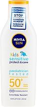 Fragrances, Perfumes, Cosmetics Sun Lotion for Kids - Nivea Sun Kids Pure & Sensitive Sun Lotion SPF50+