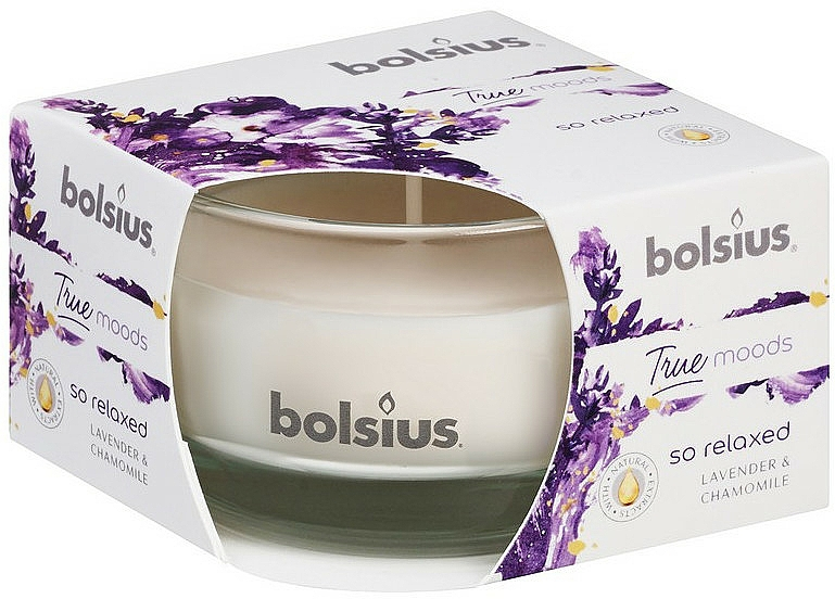 """Scented Candle in Glass """"Lavender and Chamomile"""", 50/80 mm - Bolsius True Moods Candle"""