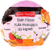 Fragrances, Perfumes, Cosmetics Fizzy Bath Bomb, pink - Belle Nature