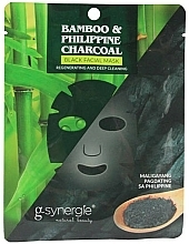Fragrances, Perfumes, Cosmetics Face Sheet Mask - G-synergie Bamboo & Philippine Charcoal Face Mask