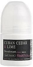 Fragrances, Perfumes, Cosmetics Bath House Cuban Cedar & Lime - Roll-On Deodorant