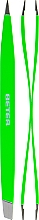 Fragrances, Perfumes, Cosmetics Double Professional Hair Removal Tweezers, light green - Beter Duply
