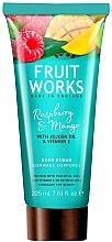 "Fragrances, Perfumes, Cosmetics Body Scrub ""Raspberry & Mango"" - Grace Cole Fruit Works Body Scrub Raspberry & Mango"