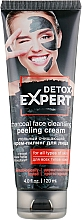 Fragrances, Perfumes, Cosmetics Cleansing Charcoal Facial Cream Peeling for All Skin Types - Detox Expert Charcoal Face Cleansing Peeling Cream