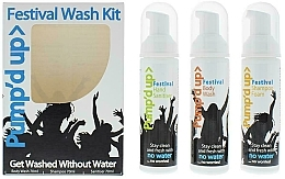 Fragrances, Perfumes, Cosmetics Set - Pump'd Up Festival Kit (sh/70g + sh/gel/70g + sanitiser/70g)