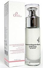 Fragrances, Perfumes, Cosmetics Eye Cream - Sayaz Cosmetics Premium Bulgarian Rose & Silk Extract Eye Cream