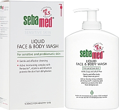 Fragrances, Perfumes, Cosmetics Cleansing Face and Body Lotion with Pump - Sebamed Liquid Face and Body Wash