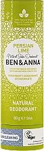 "Fragrances, Perfumes, Cosmetics Soda Deodorant ""Persian Lime"" (paper tube) - Ben & Anna Natural Soda Deodorant Paper Tube Persian Lime"