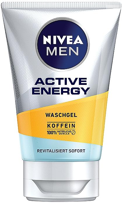 "Cleansing Gel ""Active Energy"" - Nivea Men Active Energy Caffeine Face Wash Gel"