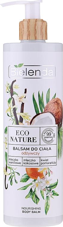 Nourishing Body Lotion - Bielenda Eco Nature Vanilla Milk, Coconut Milk, Orange Blossom Nourishing Body Lotion
