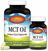 Fragrances, Perfumes, Cosmetics Set - Carlson Labs MCT Oil (gel/120szt + gel/30szt)