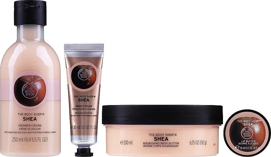 Set - The Body Shop Shea (b/but/200ml + lip/butter/10ml + h/cr/30ml + sh/cr/250ml) — photo N2