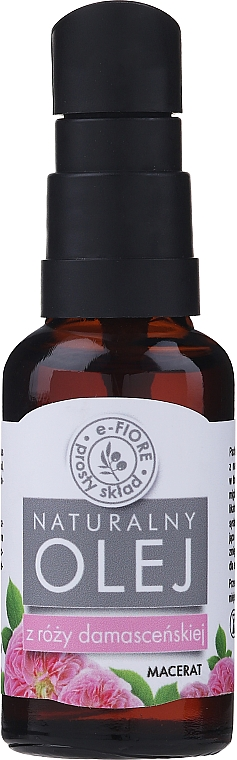 Damask Rose Oil - E-Fiore Natural Oil (with dispenser) — photo N1