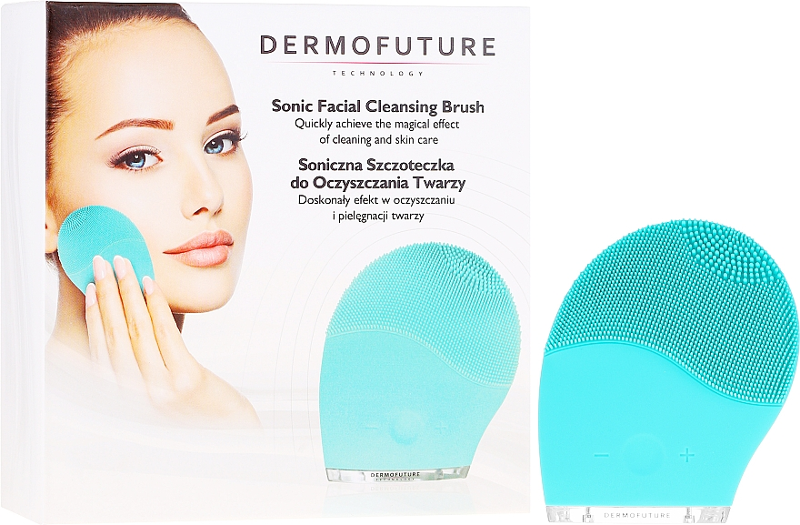 Facial Cleansing Brush, blue - Dermofuture Technology