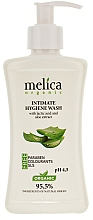 Fragrances, Perfumes, Cosmetics Intimate Wash with Lactic Acid and Aloe Extract - Melica Organic Intimate Hygiene Wash