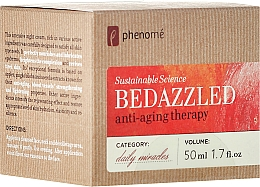 Fragrances, Perfumes, Cosmetics Replenishing Night Cream - Phenome Sustainable Science Bedazzled Anti-Aging Therapy