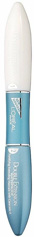 Lash Mascara - L'Oreal Paris Double Extend Waterproof Black — photo N1