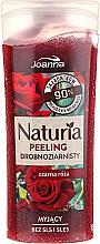 "Fragrances, Perfumes, Cosmetics Fine-Grained Shower Peeling ""Black Rose"" - Joanna Naturia Peeling"