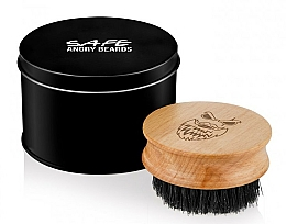 Fragrances, Perfumes, Cosmetics Wooden Beard Brush, round - Angry Beards Safe Brush