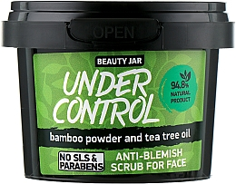 "Fragrances, Perfumes, Cosmetics Face Scrub ""Under Control"" - Beauty Jar Anti-Blemish Scrub For Face"