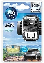 "Fragrances, Perfumes, Cosmetics Car Freshener Set ""Sky"" - Ambi Pur (freshener/1szt+refill/7ml)"