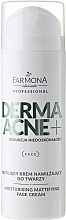 Fragrances, Perfumes, Cosmetics AHA Acids Mattifying Face Cream - Farmona Dermaacne+ Moisturising Mattifying Face Cream