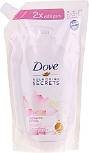 "Fragrances, Perfumes, Cosmetics Hand Liquid Soap ""Lotus Flower"" - Dove Nourishing Secrets Glowing Ritual Hand Wash (doypack)"