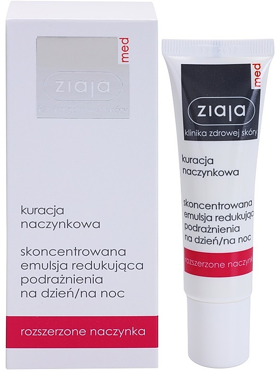 Concentrated Soothing Serum for Sensitive, Redness-Prone Skin - Ziaja Med Capillary Care