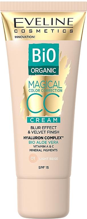Tinting CC Cream - Eveline Cosmetics Bio Organic Magical CC Cream SPF 15