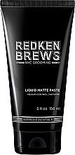Fragrances, Perfumes, Cosmetics Modeling Hair Paste - Redken Brews Liquid Matte Paste