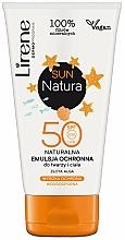 Fragrances, Perfumes, Cosmetics Sun Emulsion SPF50+ - Lirene Sun Natura Sun Light Emulsion SPF 50+ Vege