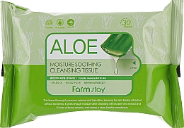 Fragrances, Perfumes, Cosmetics Cleansing Aloe Tissue - FarmStay Aloe Moisture Soothing Cleansing Tissue