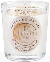 Fragrances, Perfumes, Cosmetics Caramel Smoothing Massage Candle in Glass - Flagolie Caramel Smoothing Massage Candle