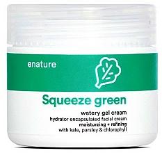 Fragrances, Perfumes, Cosmetics Facial Gel Cream - E-Nature Squeeze Green Watery Gel Cream Moisturizing + Refining