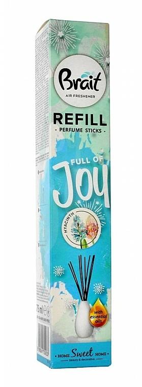 "Reed Diffuser ""Hyacinth"" - Brait Home Sweet Home Refreshing Sticks Full of Joy (refill)"