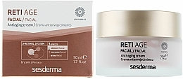 Fragrances, Perfumes, Cosmetics Anti-Aging 3-Retinol Face Cream for Dry Skin - SesDerma Laboratories Reti Age Facial Antiaging Cream 3-Retinol System